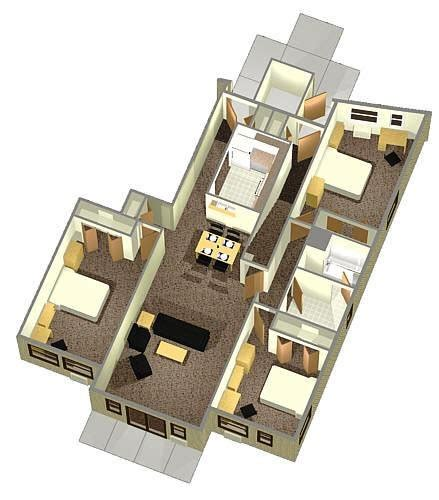 Room Layout Generator 3 person 1st floor apartment layout circle apartments