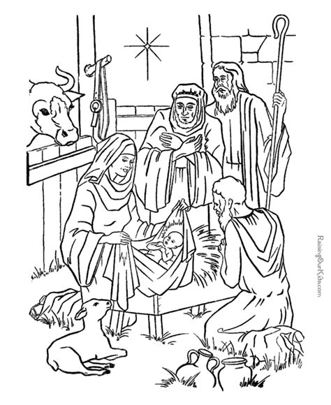 Free Coloring Page Of The Nativity | nativity scene coloring pages az coloring pages