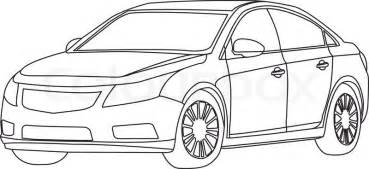 car outline car outline vector stock vector colourbox