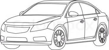 Car Outline Vector Stock Vector Colourbox