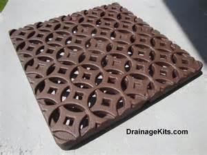 decorative 12 x 12 cast iron grate stepping