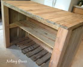 make a kitchen island how to make a pallet kitchen island for less than 50