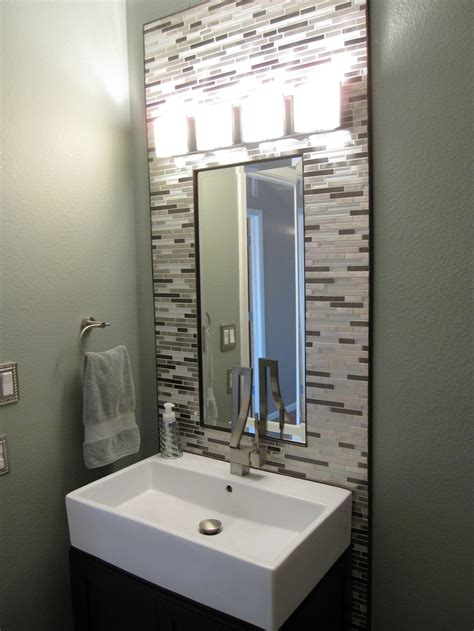 powder room backsplash ideas 1000 images about powder room on pinterest powder room