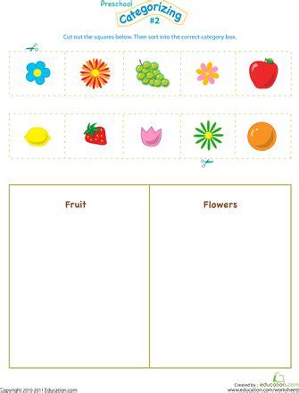 39 best sorting categorizing worksheets images on free preschool categorizing worksheets printables free