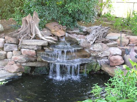 Backyard Pond With Waterfall by Decors 187 Archive 187 Waterfall Enhances The