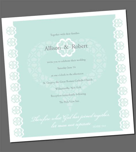Wedding Invitation Bible Verses wedding invitation with bible verse fresh by