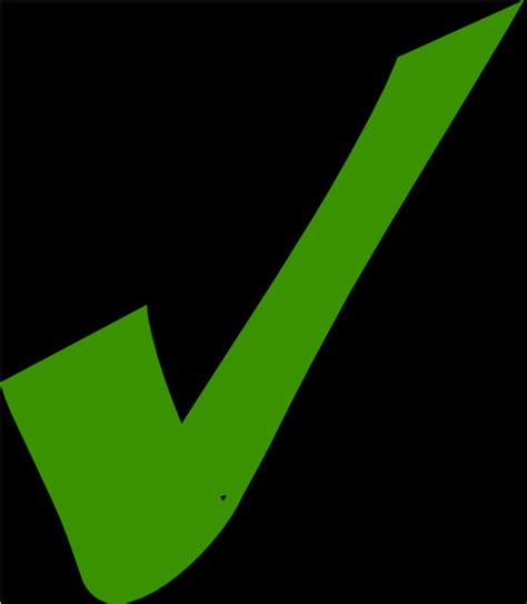 Check Black Background Green Check With Black Background Clip At Clker Vector Clip
