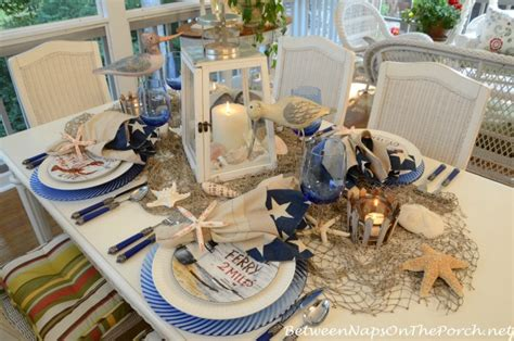 Decorations For Welcome Home Baby nautical table setting tablescape with david carter brown