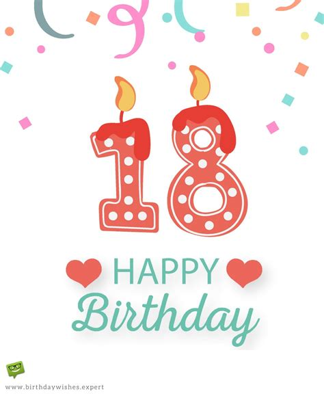 Happy 18th Birthday Wishes For Entering Adulthood Drink Responsibly 18th Birthday Wishes