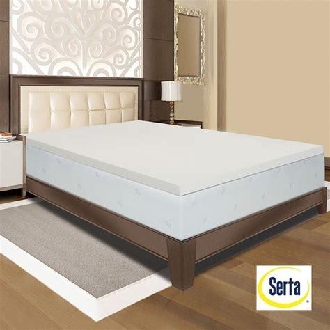 Serta Memory Foam Mattress Topper Serta Memory Foam 3 Inch Mattress Topper Contemporary Mattresses By Overstock