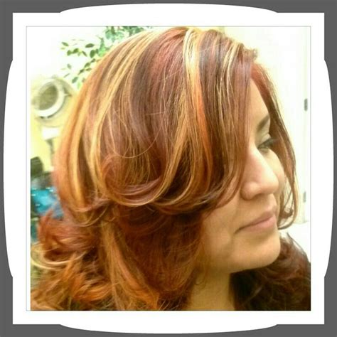 blonde and copper hairstyles copper hair with blonde highlights google search hair