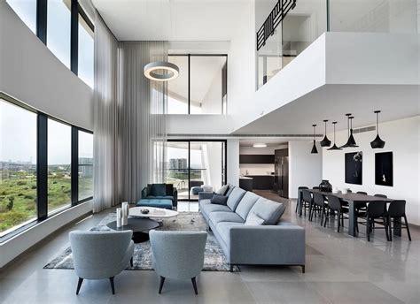 design of duplex apartment modern duplex apartment overlooking the tel aviv beaches