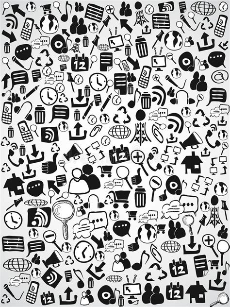 doodle free website doodle web icon background stock vector image of
