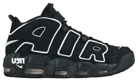 Nike Air Up Tempo X Supreme Blackout nike air more uptempo black white 2016 sneaker bar detroit