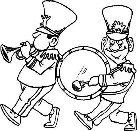 Marching Band Free Coloring Pages Band Coloring Pages
