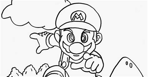 H Brothers Coloring Page by Mario Bros Coloring Pages Printables