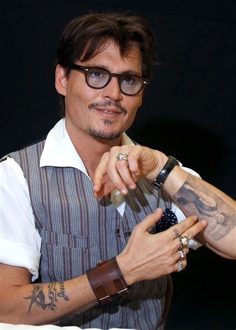 tattooed actors johnny depp tattoos tattooed