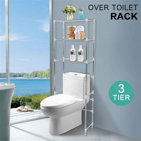 the toilet shelving unit 3 tier toilet bathroom storage rack shelf unit