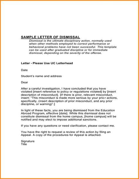 patient dismissal letter behavior template samples