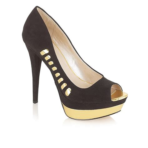 ravel peep toe shoes black gold ravel from ravel uk