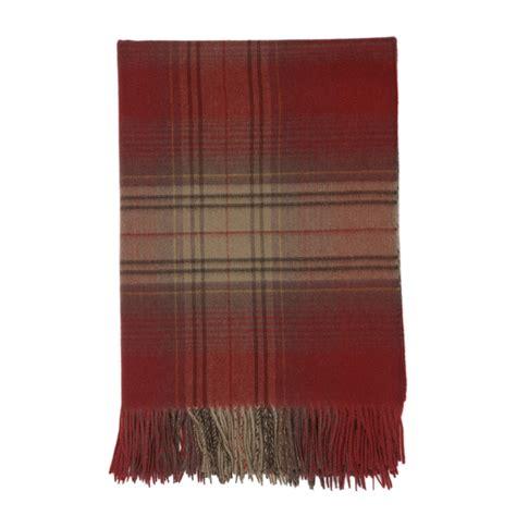 wa throw rug johnstons of elgin rust antique tartan travel rug