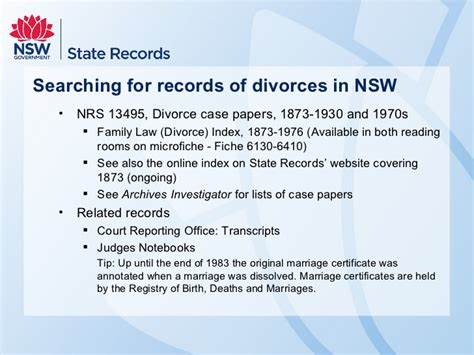 Marriage Records Nsw Divorce Records Index State Archives And Records Nsw