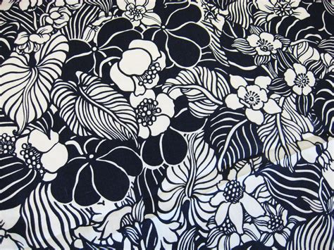 White Loveseat Sofa Vintage 60s Navy Hawaiian Floral Fabric Material By