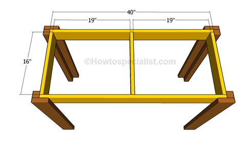 build a simple desk simple desk plans howtospecialist how to build step