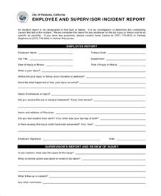 Sample Employee Incident Report Form 10 Incident Report Templates Free Sample Example