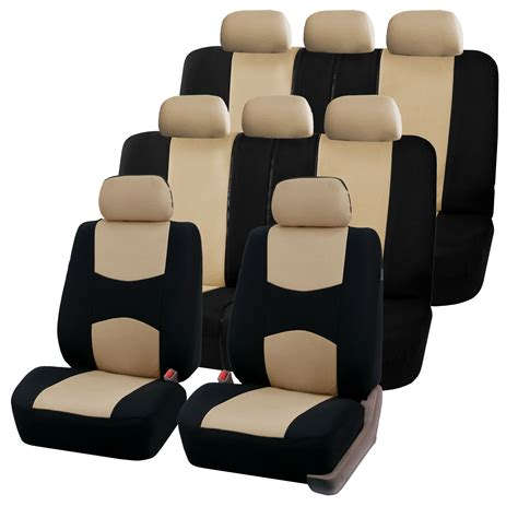 split seat covers 3 row fabric auto seat covers air bag split bench compatible