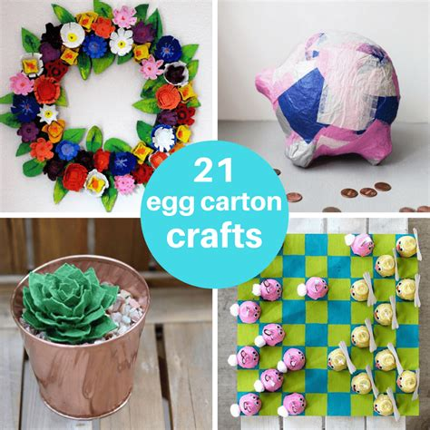 21 egg crafts for and adults upcycle recycle