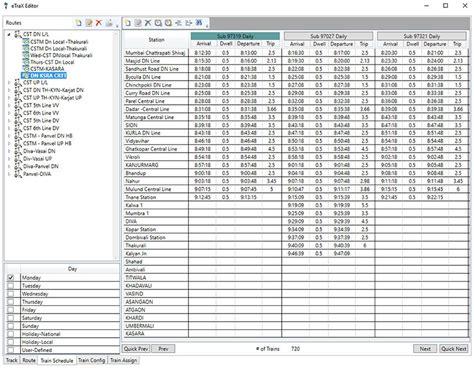 lifetime schedule configuration time schedule etrax railways etap