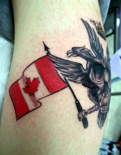 canadian flag tattoos designs 18 patriotic canadian flag tattoos tattooblend