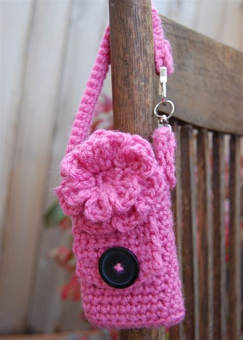 crochet pattern phone bag bend beanies cell phone case free crochet pattern