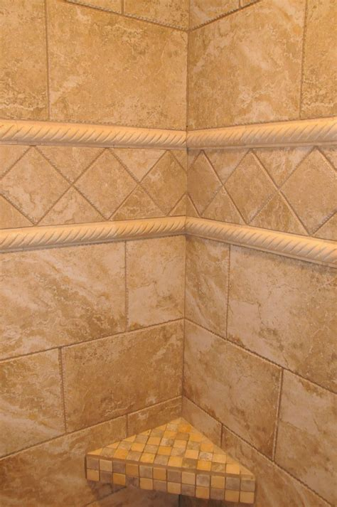 tiled shower with bench custom tile and mosaic tile shower bench remodel ideas