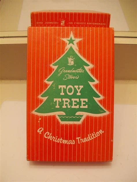 xmas trees stover vintage grandmother stover s tree with 25 gumball charms in box antique price