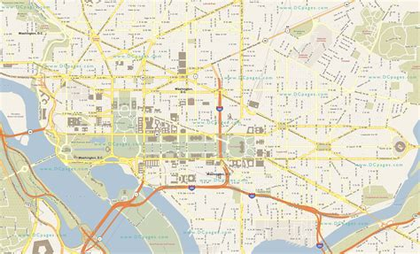 washington dc united states map district of columbia map