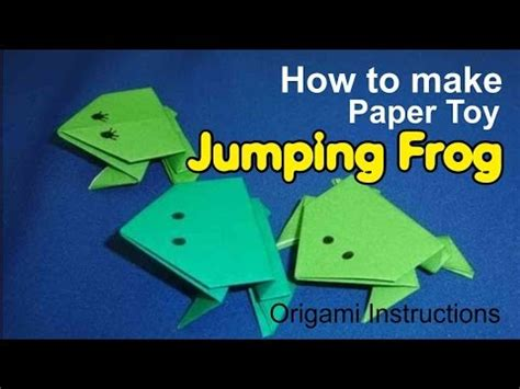 How To Make A Frog Out Of Paper - how to make paper jumping frog type 1