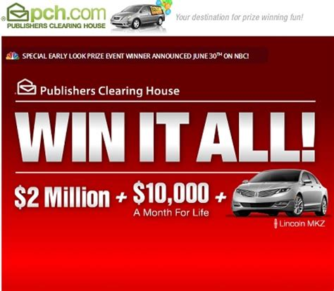 Pch Com Winner - pch win it all sweepstakes 10 000 a month for life sweeps maniac