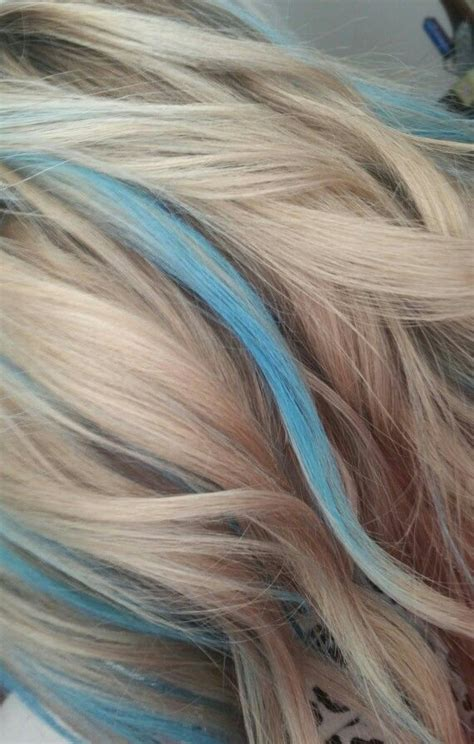 brown hair with blonde and blue highlights 1000 ideas about blue hair highlights on pinterest