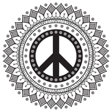 imagenes de mandalas de la paz mandala blanco y negro con el s 237 mbolo de la paz