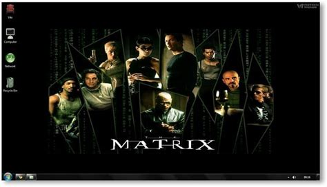 themes in the film seven the matrix windows 7 theme and wallpapers movie themes