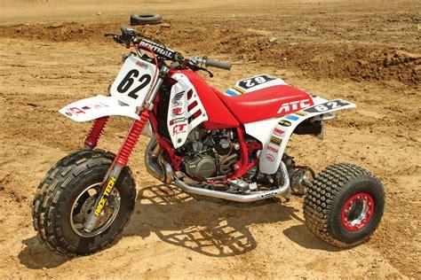 motocross racing parts project atv honda atc250r dirt wheels magazine