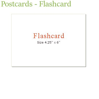 Flash Card Size Template by Postcards Flashcard Marketing