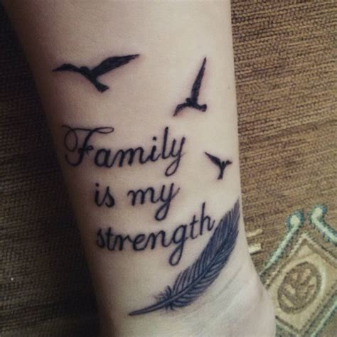 tattoo quotes parents forearm tattoo saying quot family is my strength quot together
