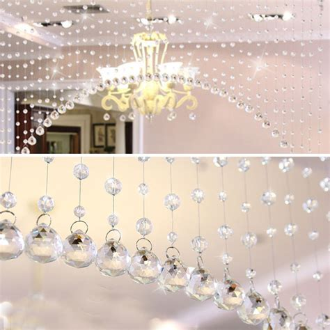 curtains decoration 1m crystals beads strand string net curtains hanging