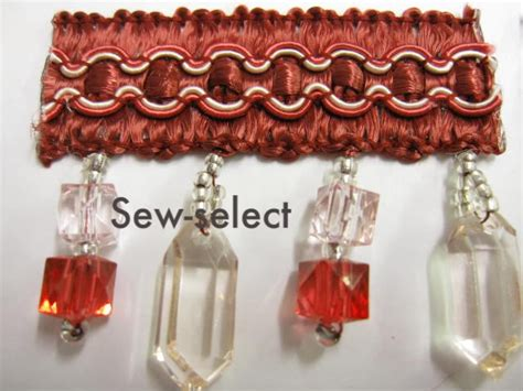 curtain braids trimmings glass beaded curtain trimming fabric crystal trim braid