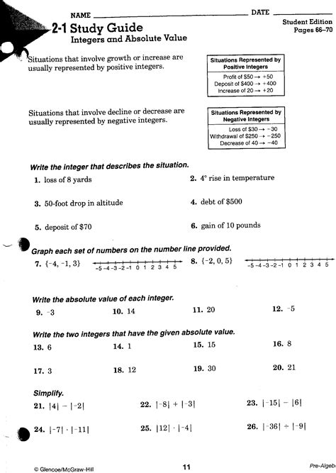 Integers 7th Grade Worksheets by 2nd Hour Math Mr Tat S Math Zone