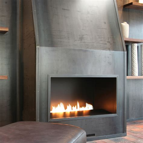ribbon gas fireplace ribbon tunnel style contemporary gas