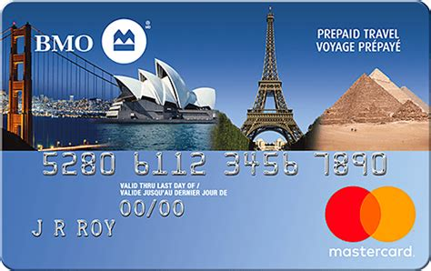 Bmo Prepaid Gift Card - prepaid travel mastercard secured credit card bmo